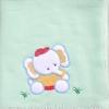 ผ้าห่มผ้าสำลีสีเขียวช้าง 29x34 นิ้ว