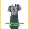2558เสื้อผ้าคนอ้วนแต่งดำคอจีนแขนลายตัดสลับลำตัวสไตล์คล่องตัว กระฉับกระเฉงของสาวทำงาน