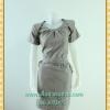 1758เสื้อผ้าคนอ้วน ชุดทำงานลายสก็อตผ้าทอคอสโนว์ไว้ท์ คอทวิสต์ด้านหน้าเก๋แปลกตา ดีไซน์ใหม่ในงานสุดเนี๊ยบอินเทรนด์มาแรงพรางรูปร่าง