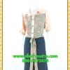 2677ชุดทํางาน เสื้อผ้าคนอ้วนชุดลายดอกสไตล์เชิ๊ตแขนยาวครึ่งศอกปลายแขนตุ๊กตากระดุมหน้ากระโปรงดำพรางสะโพก