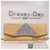 กระเป๋าออกงาน TE016: กระเป๋าออกงานพร้อมส่ง สีทอง ดีเทลเพชรพรีเมี่ยม สวยหรู เริ่ดมาก ราคาถูกกว่าห้าง ถือออกงาน หรือ สะพายออกงาน สวย เหมือนดารา