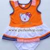 ชุดกระโปรง+กางเกงใน Hello Kittyสีส้ม ไซด์ 9-12 เดือน