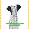 2543เสื้อผ้าคนอ้วน เสื้อผ้าแฟชั่นออกงาน คอกลมแต่งลายกราฟฟิค เล่นดีไซน์ระบายแขนหรูด้วยความลายของผ้าและสไตล์หวานที่พร้อมออกงาน