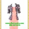 2690เสื้อผ้าคนอ้วน เสื้อผ้าแฟชั่นดอกเกาะอกมีชุดคลุมลายวินเทจระบายคอเลิศหรูสีเข้มหรูสง่างามสวมใส่ทำงานสไตล์หรูมั่นใจ