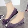รองเท้าคัทชูส้นแบนสีเทา แนวแฟนซี ทรงหนู น่ารัก เก๋ไก๋ แฟชั่นเกาหลี