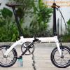 """จักรยานพับล้อ 14"""" Banian Smart สีขาว อะไหล่ Litepro"""
