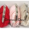 กระเป๋าออกงาน CZ003: กระเป๋าคลัชสวย หรู สีแดง, สีดำ, สีชมพู, สีแชมเปญ, สีน้ำเงิน, สีม่วง ราคาถูก ใส่คู่กับชุดเดรสออกงานน่ารักมากค่ะ
