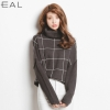EAL เสื้อไหมพรมคอเต่าญี่ปุ่น ลายตาราง