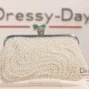 กระเป๋าออกงาน TE037 : กระเป๋าออกงาน พร้อมส่ง สีขาว สวยเก๋ด้วยดีเทลมุข แบบไม่ซ้ำใคร ด้วยตัวล็อคประดับเพชร ใช้สะพายออกงานเช้า กลางวัน หรือถือไปงานกลางคืน ออกเดท สวยหรูดูดีที่สุด