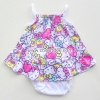 ชุดเด็กอ่อนหญิงสายเดี่ยว ผ้าคอตตอนคิตตี้หัวใจ ไซด์ 0-3 เดือน