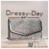 กระเป๋าออกงาน TE038 : กระเป๋าออกงาน พร้อมส่ง สีเงิน ขอบเงิน สวยแบบเรียบหรู ใช้สะพายออกงานเช้า กลางวัน หรือถือไปงานกลางคืน สวยหรู ดูดีสุดๆ