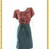 1866เสื้อผ้าคนอ้วน ชุดทำงานปกบัวต่อระบายครึ่งตัวแต่งกระดุมหน้าเจาะคอหลังเพื่อความสะดวกในการสวมใส่แขนตุ๊กตามีซับใน