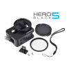 Aluminium Alloy Protective Frame Housing Case With Back Cover + 52mm UV filter and Lens Cap For Gopro Hero 5 - Black