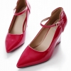 รองเท้าคัทชูส้นเตารีด หัวแหลม (สีแดง)