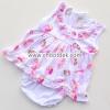 ชุดเด็กอ่อนหญิงผ้าคอตตอน คอระบายชมพูแมงปอ เต่าทอง ไซด์ 0-6 เดือน