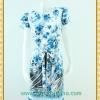 1715ชุดเดรสทำงาน เสื้อผ้าคนอ้วนชุดผ้าItaly Silk100%คอกลมแขนระบายลายเชิงชายกระโปรงเข้ารูปทรงตรงสไตล์ผู้ดีเนี๊ยบโทนสีฟ้าลายกุหลาบ