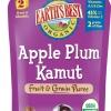 Earth'sbest organic แอปเปิ้ล พลัม ข้าวสาลีคามุท ขนาด 120 กรัม