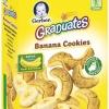 ขนม Gerber Graduates Banana Cookies ขนมคุ๊กกี้ รสกล้วย