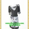 1947เสื้อผ้าคนอ้วน เสื้อผ้าแฟชั่นสีดำแต่งลายอกและชายกระโปรงสไตล์สาวทำงานครบเครื่องและช่างเลือก