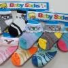 แพ็ค 3คู่ ถุงเท้าเด็กอ่อน คละลาย ไซด์ 0-6 เดือน