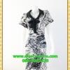 1898เสื้อผ้าคนอ้วน เสื้อผ้าแฟชั่นผ้าลายคอเชิ๊ตมีโบว์ผูก กระดุมหน้า สไตล์สาวเท่ห์สะดวกสบายยามเคลื่อนไหวและคล่องตัว