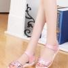 รองเท้าแตะผู้หญิงสีชมพู รัดส้น หัวแต่งลายหัวใจ น่ารัก หวานแหวน ไม่ผิดหวัง สาวๆชอบกัน แฟชั่นเกาหลี