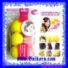 โรลม้วนผมฟองน้ำแบบนุ่ม ( Fashion Lovely Sponge Hair Curler ) โรลฟองน้ำรูปบอลสีเหลืองและชมพู ที่ช่วยทำให้ผมเป็นลอนสวย