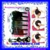 ตัวช่วยที่ช่วยเก็บผมเวลากล้าผม แบบตัวใหญ่ ( Hair Accessories - Hair Plug_Plate Large ) ไอเท็มที่ช่วยเก็บผมเวลาเกล้าผม สีดำ แบบ 2 ชิ้น ขนาดใหญ่