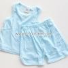 ไซด์ 12เดือน ชุดเสื้อกล้ามกางเกง สีฟ้าดอกไม้
