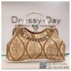กระเป๋าออกงาน TE012: กระเป๋าออกงานพร้อมส่ง กระเป๋าคลัช วินเทจ สีทอง แบบมีหูหิ้ว ดีเทลคริสตอล มาพร้อมงานปักสุดหรู ราคาถูกกว่าห้าง ถือออกงาน หรือ สะพายออกงาน สวย หรู ดูดีเริ่ดมากค่ะ
