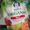 Gerber Organic fruit แพร์ พีชและสตรอเบอรี่ ขนาด 99 กรัม