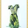 1699ชุดทํางาน เสื้อผ้าคนอ้วนคอวีสีเขียวลายแขนฟิลิปปินส์แต่งโบด้านหน้า สไตล์ล้ำคลาสสิคสุภาพเป็นทางการอย่างโดดเด่นงานละเอียดด้วยซับใน