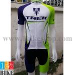 ชุดจักรยานแขนสั้น Trek 2016 สีขาวเขียวน้ำเงิน