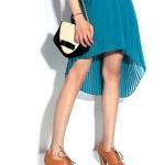 รองเท้าคัทชูส้นสูงสีน้ำตาล วัสดุPU แบบผูกเชือก โชว์ลายเย็บ ส้นสูง7cm แฟชั่นเกาหลี