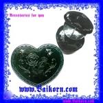 กล่องเก็บของกระจุกกระจิก สไตล์ Anna ลวดลายผีเสื้อ + กุหลาบ รูปหัวใจ สีดำ
