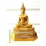 พระพุทธรูปปางมารวิชัย เนื้อโลหะ พ่นทอง หน้าตัก 5 นิ้ว สูง 9 นิ้ว (รวมฐาน)