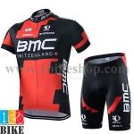 ชุดจักรยานแขนสั้น BMC 2015 สีแดงดำ