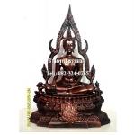 พระพุทธรูปปางมารวิชัย ซุ้มแก้ว ( พระพุทธชินราช ) เนื้อเรซิ่น หน้าตัก 5 นิ้ว สูง 13 นิ้ว (รวมฐาน)