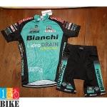 ชุดจักรยานแขนสั้น Bianchi 2015 สีเขียวดำ