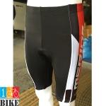 กางเกงปั่นจักรยานขาสั้น Merida สีดำแดง