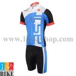 ชุดจักรยานแขนสั้น Castelli 2015 สีขาวฟ้า