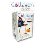 Donut Collagen 10000 mg โดนัท คอลลาเจน 10000 มก. รสส้ม (10 ซอง/กล่อง) สูตรลับความสวย คอลลาเจนนำเข้าจากประเทศญี่ปุ่น พร้อมด้วย แอล-คาร์นิทีน สารสกัดจากชาเขียว สารสกัดจากโสม ฯลฯ ทำให้ผิวพรรณมีความยืดหยุ่น กระชับและช่วยให้ผิวอุ้มน้ำได้มากขึ้น ผิวมีความชุ่มชื