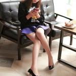 รองเท้าทำงานส้นสูงสีดำ หุ้มส้น หัวแหลม ส้นเข็ม ส้นสูง9cm ทรงสุภาพ แฟชั่นเกาหลี
