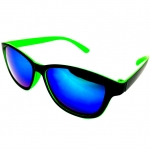 แว่นกันแดดแนวเรโทร สีเขียว เลนส์ปรอท