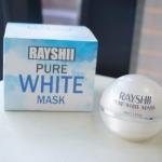 Rayshi Pure White Mask Sleeping mask สูตรพิเศษ เนื้อมาส์กนุ่ม หอมกลิ่นแป้งเด็กแคร์ ไม่อุดตัน ไม่ระคายเคือง