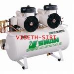 **ปั๊มลมสวอนแบบไม่ใช้น้ำมัน swan oilfree compressor DR-115-2B