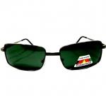 แว่นกันแดด โพลาไรซ์ กรอบสแตนเลสสีดำ เลนส์ดำ