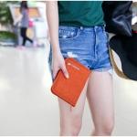 กระเป๋าสตางค์ใส่หนังสือเดินทาง พาสปอร์ต Passport Bag Travelus Orange สีส้ม