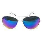 แว่นกันแดด แฟชั่น SILVER&BLUE AVIATOR