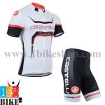 ชุดจักรยานแขนสั้น Castelli 2014 สีขาวดำส้ม